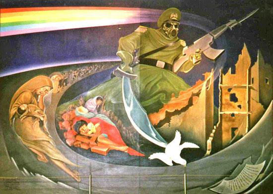 Leo Tanguma Mural at the New World  International Airport, of Denver/ Toledo, Colorado ungerground complex